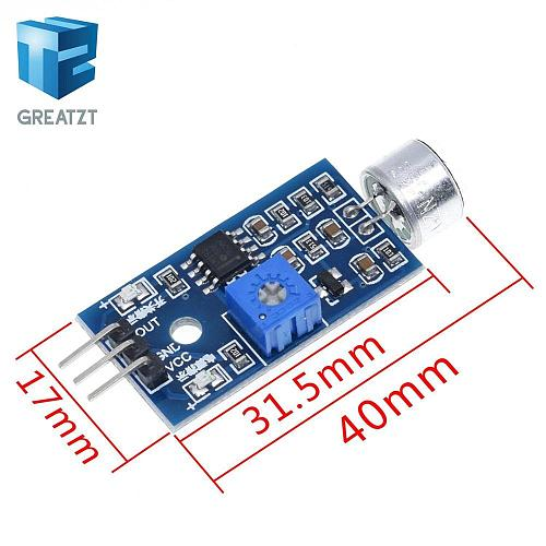 3pin Voice Sound Detection Sensor Module Intelligent Smart Robot Helicopter Airplane Boart Car for arduino Diy Kit