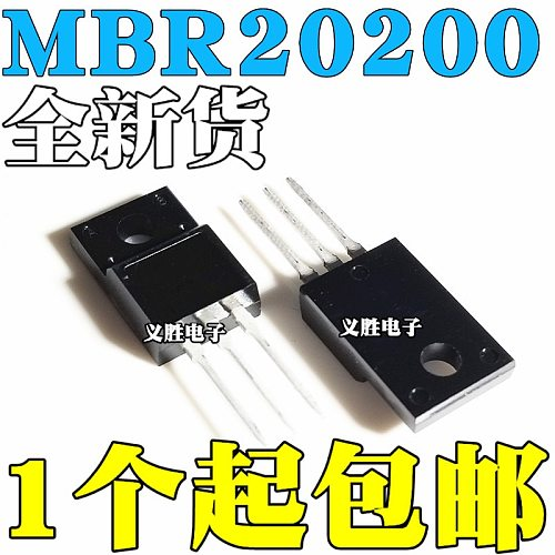 6pcs/lot MBRF20200CTG MBRF20200CT MBRF20200 20200CTG B20200G 20A/200V TO-220F Schottky diode