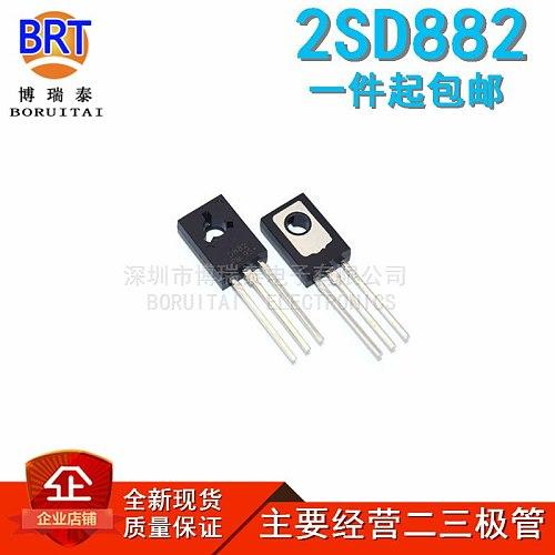 20PCS 2SD882 D882 2SB772 B772 TO-126 ( 10PCS D882 + 10PCS B772 ) TO126 PNP tube new