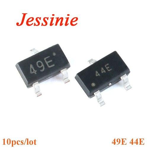 10Pcs SOT23 SMD 44E 49E Hall Effect Sensor Switch SMD Hall Element  Sensor Switch Brushless Electric Motor