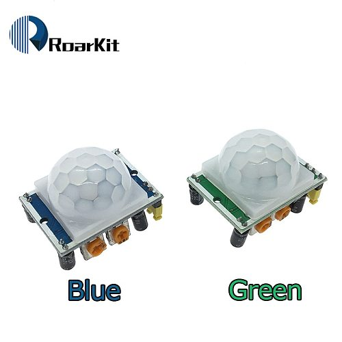 5PCS/LOT SR501 Motion Sensor Detector Module HC-SR501 Adjust IR Pyroelectric Infrared PIR module for arduino Diy Kit
