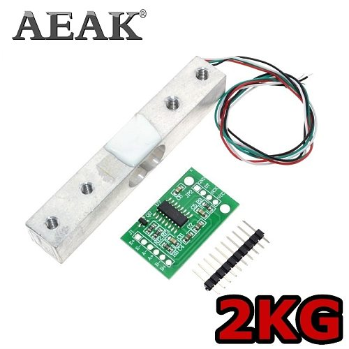 AEAK Digital Load Cell Weight Sensor 2KG Portable Electronic Kitchen Scale + HX711 Weighing Sensors Ad Module