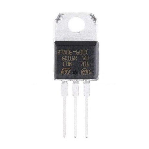 10pcs/lot Original Product DIP BTA06-600CRG TO-220-3 Triac