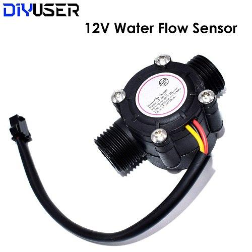 12V Water Flow Sensor DC 5-18V Flowmeter Hall Flow Sensor Water Control Liquid Flow Sensor Switch 1-30L/min 2.0MPa YF-S201