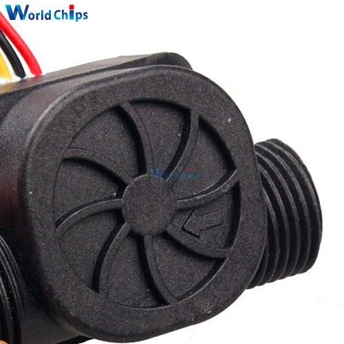 G1/2 Water Flow Sensor Fluid Flowmeter Switch Counter 1-30L/min Meter 1.75MPa Hall Flow Sensor Water Control