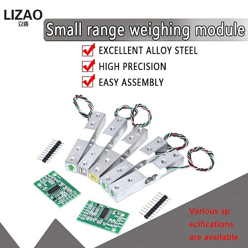 official Digital Load Cell Weight Sensor 1KG 5KG 10KG 20KG Portable Electronic Kitchen Scale + HX711 Weighing Sensors Ad Module