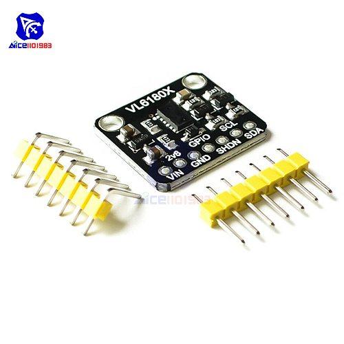 diymore VL6180X Range Finder Optical Ranging Sensor Module I2C Interface 3.3V 5V IR Emitter Ambient Light TOF for Arduino