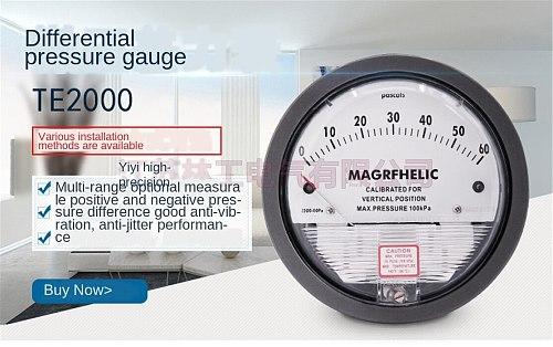 TE2000 Micro Differential Pressure Gauge High Precision Air Differentialvacuum Manometer Micro Measuring Range 0-100PA~0-30KPA