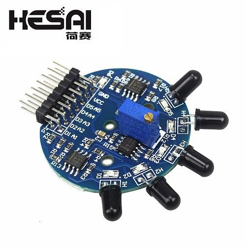 5 Way Flame Sensor Module 5 Road Digital Analog Signal Dual Output Fire Detection Sensor Module for arduino DIY Kit