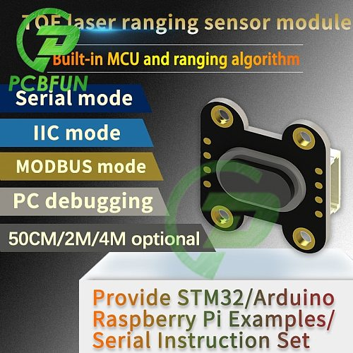TOF400F TOF200F TOF050F 50CM 2M 4M Laser Distance Measurement Sensor Module MODBUS IIC Serial Port for Arduino for Raspberry Pi