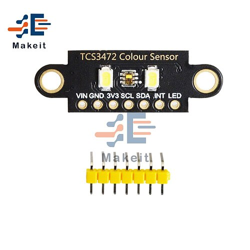 TCS34725 Color Sensor Low Power RGB Light Flora Color Sensor Development Board Two Hole Version Color Recognition Module