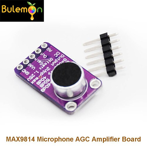 MAX9814 Microphone AGC Amplifier Board Module Auto Gain Control for Arduino Programmable Attack and Release Ratio Low THD