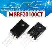 10PCS B20100G TO-220F MBRF20100CT MBRF20100G MBRF20100 TO220F New and Original IC Chipset