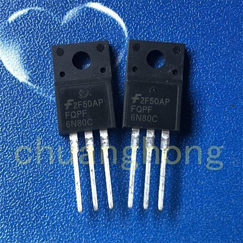 1pcs/lot Power triode FQPF6N80C 6A 800V new field effect transistor TO-220F 6N80C