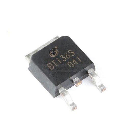 10pcs/lot Original Product SMD BT136S TO-252 6A/600V Triac