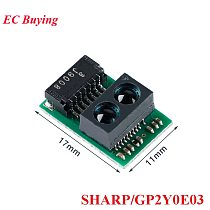 GP2Y0E03 Infrared Distance Measuring Sensor Module SHARP 4-50cm IR Ranging High Precision I2C IIC Output for Arduino