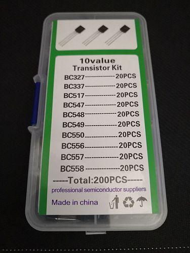 1BOX 200pcs=10 Values*20pcs Transistor kit Assort set BC327/BC337/BC517/BC547/BC548/BC549/BC550 BC556/BC557/BC558 mix diode pack