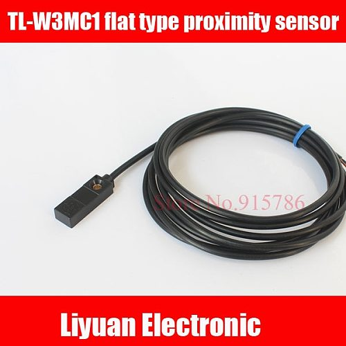 2pcs TL-W3MC1 flat type proximity sensor / DC three-wire NPN normally open inductive proximity switch