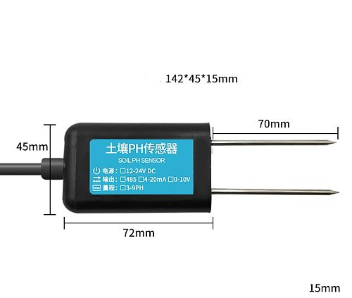 Soil PH Sensor Detector RS485/ GPRS / 4g / LORA Agricultural Greenhouse 0-5V 0-10V NB-IOT PH Value Transmitter IP68 Soil Tester