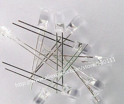 100Pcs 5mm Led 850nm Lamp Transmitting Tube Emitting Diode Infrared LED Diode  850nm High Power