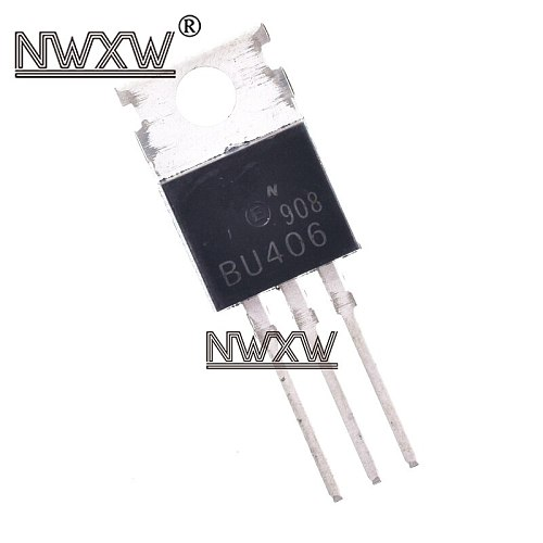 10pcs/lot BU406 high voltage switch tube 7A/200V in-line transistor TO220