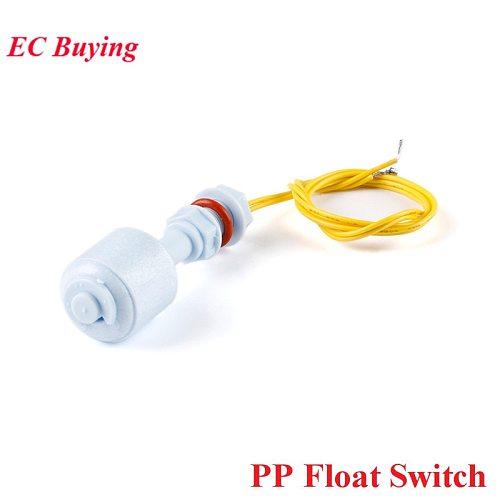PP Floating Ball Switch Liquid Water Level Sensor Horizontal Float Switch Down