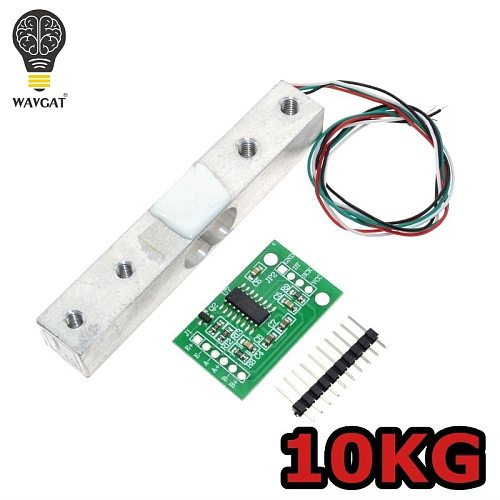 WAVGAT Digital Load Cell Weight Sensor 10KG Portable Electronic Kitchen Scale + HX711 Weighing Sensors Ad Module.