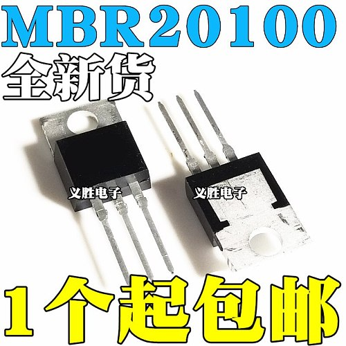 6pcs MBR20100CT TO-220 MBR20100 TO220 20100CT B20100G New and Original IC Chipset