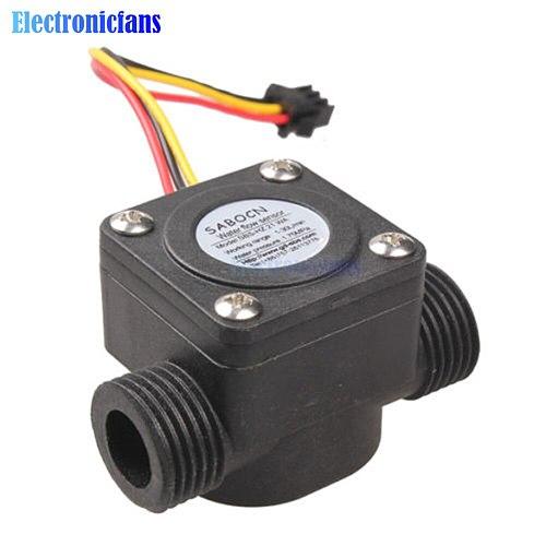4 Point Water Flow Sensor 1-30L/min G1/2 1.75MPa Fluid Flowmeter Switch Counter Hall Control Machine Flow Meter for Water Heater