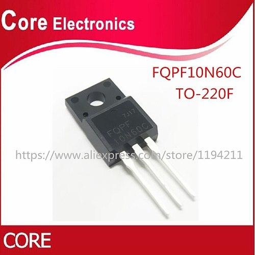 50PCS FQPF10N60C  10N60 TO220  MOS FET Transistor