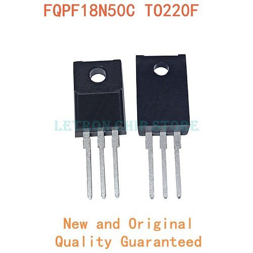 10PCS FQPF18N50C TO-220 18N50C TO-220F 18N50 TO220 FQPF18N50 TO220F MOSFET transistor N-CH new and original IC Chipset