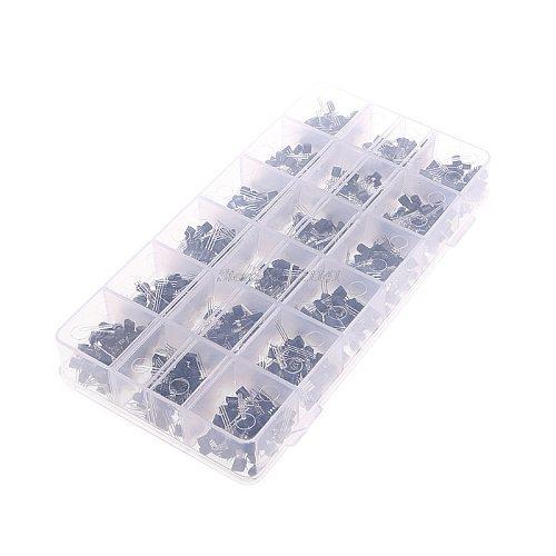 900 Pcs 18 Value A1015 - 2N5551 Bipolar Signal Transistor NPN PNP Kit Set Dropship
