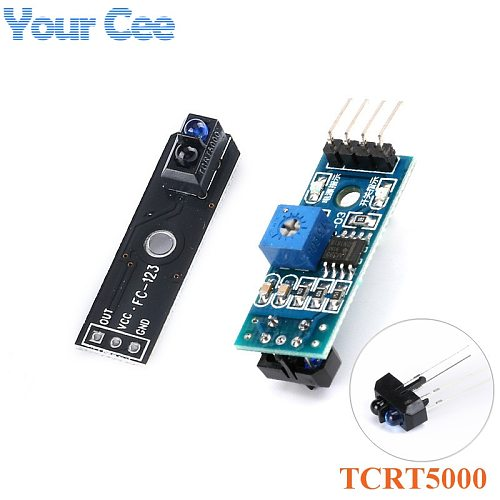 TCRT5000 Reflective Infrared Optical Sensor Photoelectric Switches Track Sensor Module for Tracing Smart Car