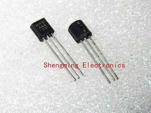 100pcs A44 MPSA44 KSP44 NPN 400V 0.3A TO-92 transistor.