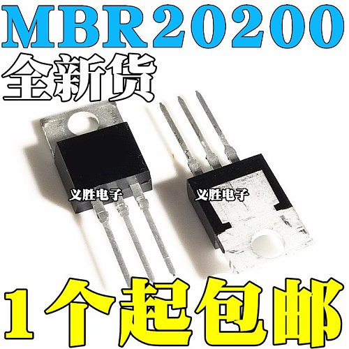 10pcs/lot MBR20200CT MBR20200 Schottky diode TO 220