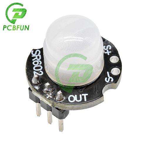 MH-SR602 High Sensitivity Motion Detector Sensor Module SR-602 Human Infrared Detection Sensor Module DC 3.3V-15V Sensing 5m