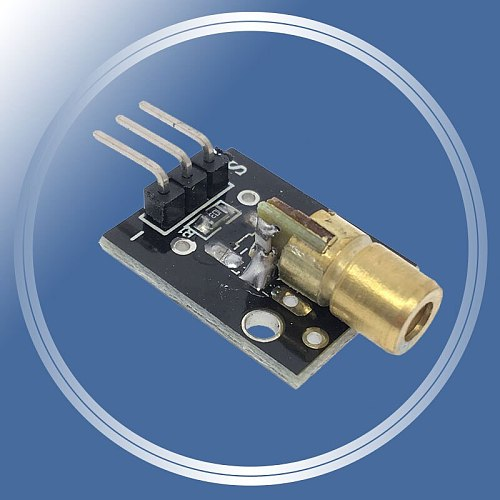 10pcs/lot KY-008 650nm Laser sensor Module 6mm 5V 5mW Red Laser Dot Diode Copper Head for Arduino