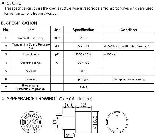 4PCS  SSE1625TAL, 16mm / 25Khz aluminum shell ultrasonic sensor drive dog training dog repellent drive mouse
