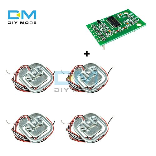 4Pcs 50kg Human Scale Load Cell Weight Sensors HX711 AD Module Body Load Cell Weighing Sensor Pressure Sensors Measurement Tools