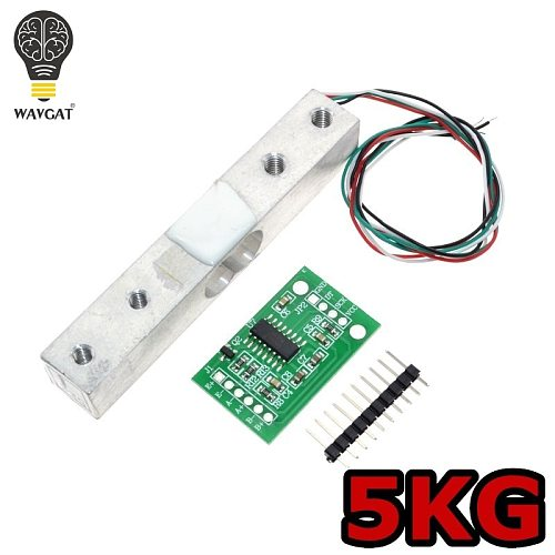 WAVGAT Digital Load Cell Weight Sensor 5KG Portable Electronic Kitchen Scale + HX711 Weighing Sensors Ad Module
