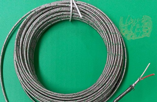 10M Compensation Wire for S/R Type Platinum Rhodium Thermocouple 2*7*0.2mm S/RC Compensation Cable S/R THERMO-COUPLE WIRE Sensor