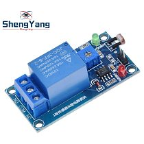 TZT 5V 12V Light Photoswitch Sensor Switch LDR Photoresistor Relay Module Light Detection Photosensitive Sensor Board