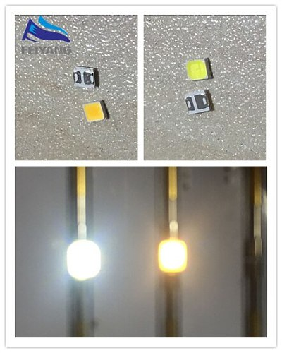 100pcs 0.2W SMD 2835 LED Lamp Bead 20-25lm White/Warm White SMD LED Beads LED Chip DC3.0-3.6V for All Kinds of LED Light
