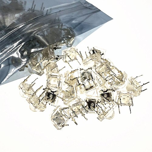 50Pcs 5mm F5 Piranha LED White RED Orange Amber Clear 5mm LED Diode Light-Emitting-Diodes 4-pins Piranha LED Diodos Brightness