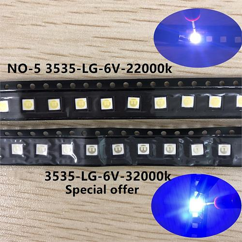 60pcs New LG Innotek LED LED Backlight High Power LED 2W 6V 3535 Cool white LCD Backlight for TV TV Application LATWT491RZLZK