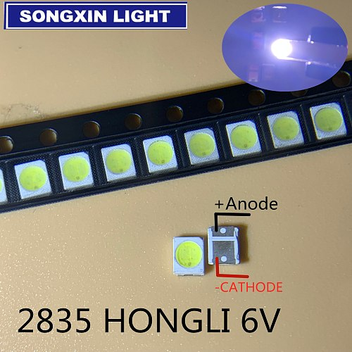 50PCS HONGLI TRONIC LED Backlight 1210 3528 2835 1W 6V 111LM Cool white LCD Backlight for TV TV Application
