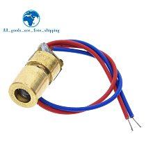 TZT  5V 650nm 5mW Adjustable Laser Dot Diode Module Red Sight Copper Head Mini Laser Pointer