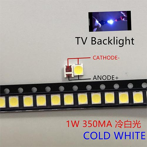 100pcs Universal LED Backlight 1.5W 3V 1210 3528 2835 131LM CUW JHSP Cool White LCD Backlight TV Application
