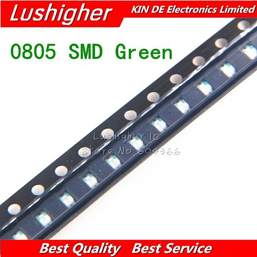 100pcs Green 0805 SMD LED Green Colour Diodes Light