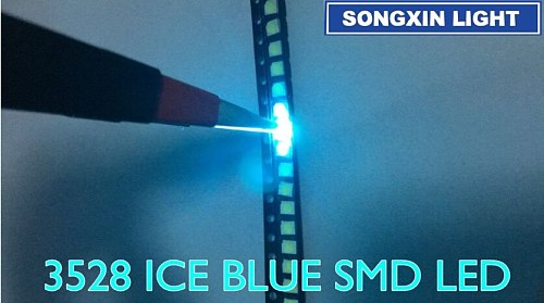 1000pcs 3528 ice blue smd led Plcc-2 smd 3528 led 1210 ice blue water clear blue led 3.5*2.8*1.9mm